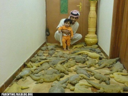 animals child Father lizard Parenting Fail pets wait what