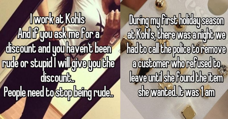 kohl's employees retail confessions customer service