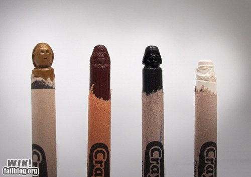 art,carving,crayola,crayon,darth vader,nerdgasm,star wars,tiny