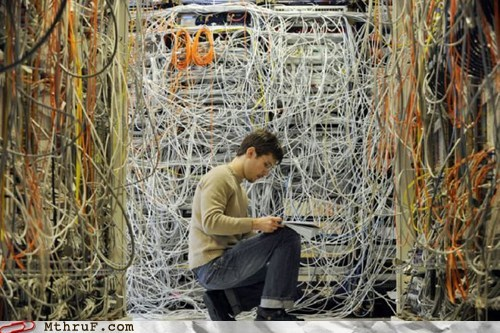 g rated,Hall of Fame,IT guys,M thru F,nightmares,what a mess,wires,wires everywhere