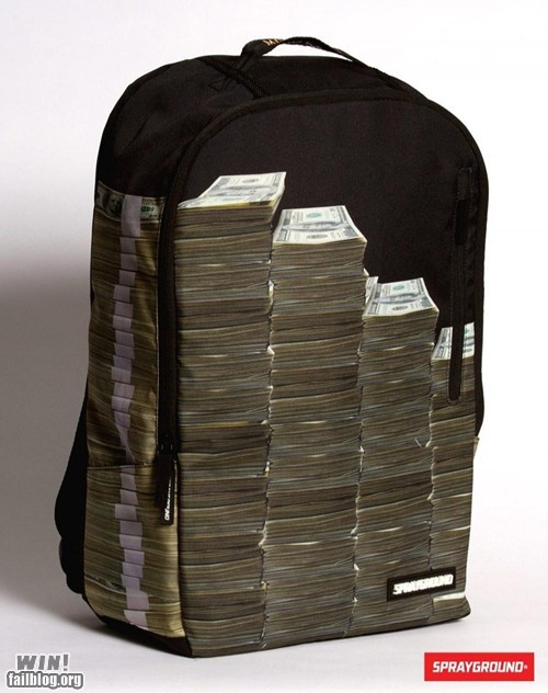 backpack bag clever design fashion money - 5496648448