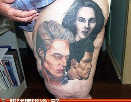 bella swan edward cullen fat jacob black tattoos twilight ugly - 5496664576