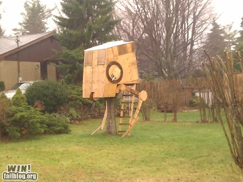 at st,DIY,fort,nerdgasm,star wars,tree house,yard