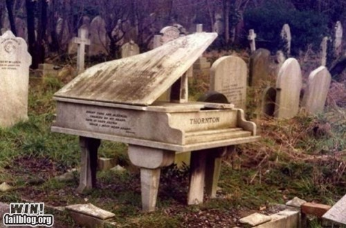 design grave morbid piano sculpture tombstone - 5496864768