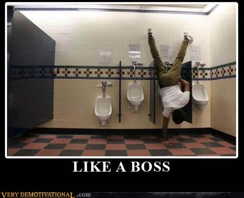 hand stand Like a Boss pee Pure Awesome urinal - 5497270016