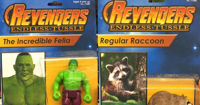 bootleg action figures art toys The Avengers hulk funny avengers - 5497349