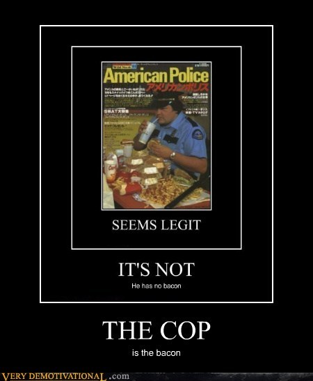 bacon cop hilarious pig