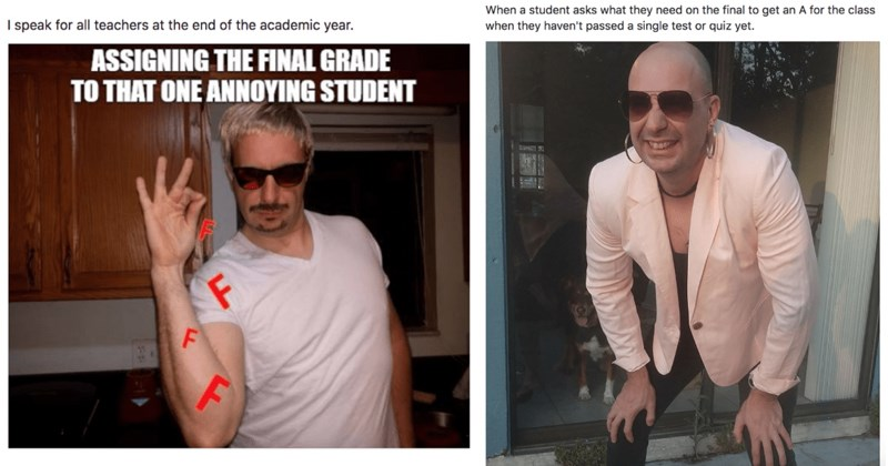 Professor memes self, memeing.professor clapback students, studying, exams, funny.