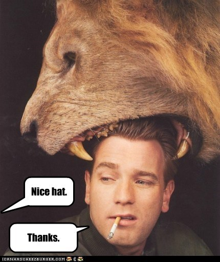 ewan mcgregor,fashion,hats,lions,looking good,smoking