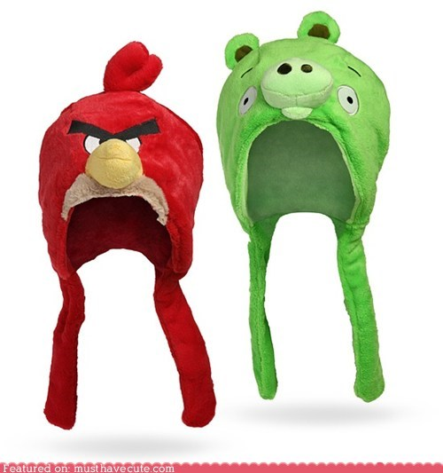 angry birds bird ear flaps hats pig Plush
