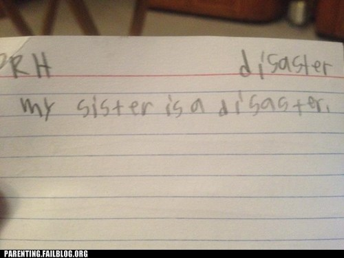 accidental insult,clever,education,insult,Parenting Fail,school,siblings,vocabulary