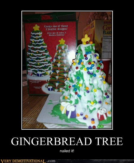 christmas tree food gingerbread hilarious Nailed It - 5499010048