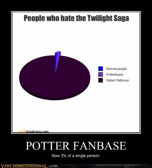 fanbase hilarious potter robert pattinson twilight - 5499424768