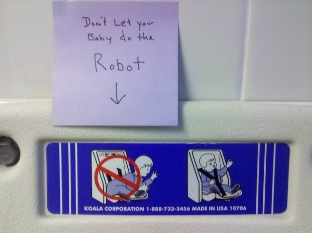 Don't let your baby do the Robot