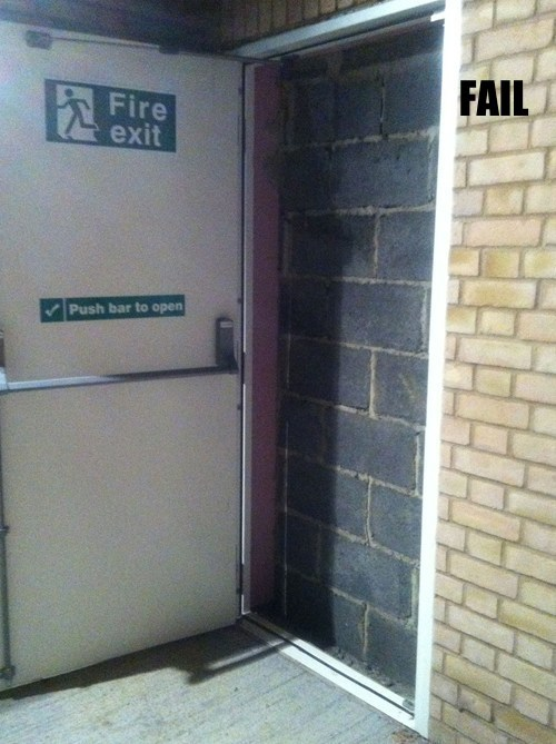dangerous fire exit Professional At Work - 5499685376