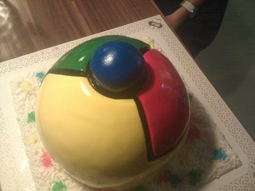 amazing food,browsers,chrome cake,google