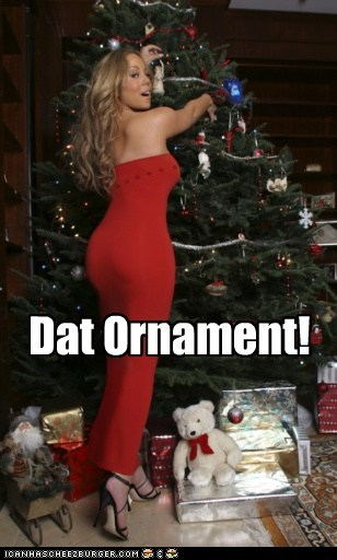 butts christmas christmas tree dat ass mariah carey Memes ornaments - 5499875584