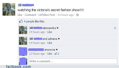 fashion show,spelling,victorias secret,witty reply
