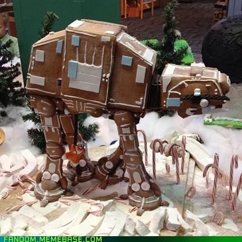 at-at walker,awesome,ginger bread,It Came From the Interwebz,star wars