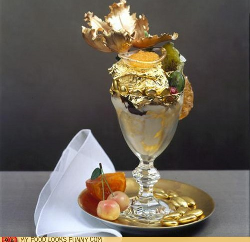 around the interwebs big money expensive fancy gold flakes sundae - 5500177152