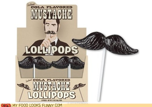 candy cola lollipop mustache sweets - 5500296704