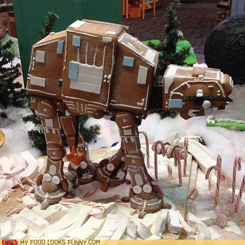 at-at walker best of the week candy DIY gingerbread icing star wars