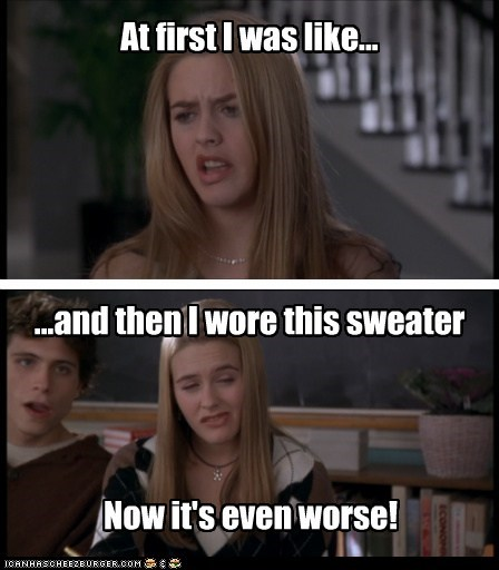 alicia silverstone argyle at first i was like clueless derp sweaters - 5500360192