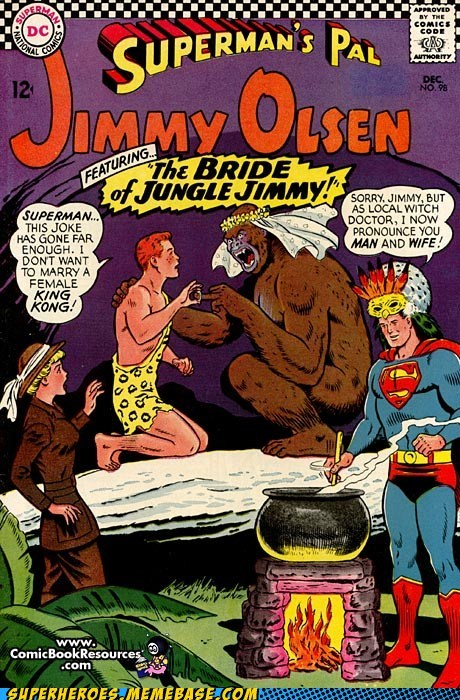 ape bride jimmy oslen Straight off the Page superman wtf - 5500479232