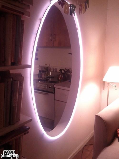 architecture design home neon lights nerdgasm Portal video game - 5500502528