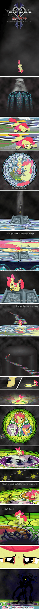 apple bloom best of week comic comics crossover cutie mark crusaders dive to the heart kindgom heart - 5500572416