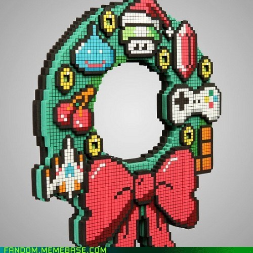 christmas decorations geek It Came From the Interwebz video games wreath - 5500587008
