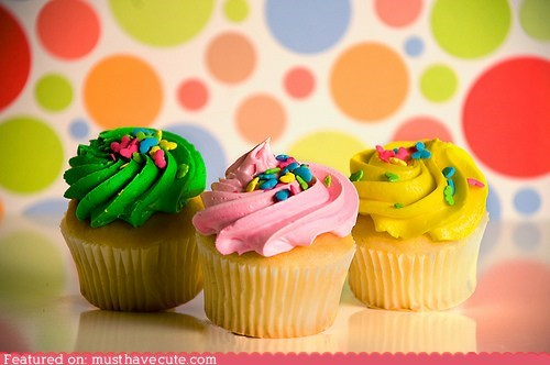 cupcakes,epicute,frosting,Party,sprinkles