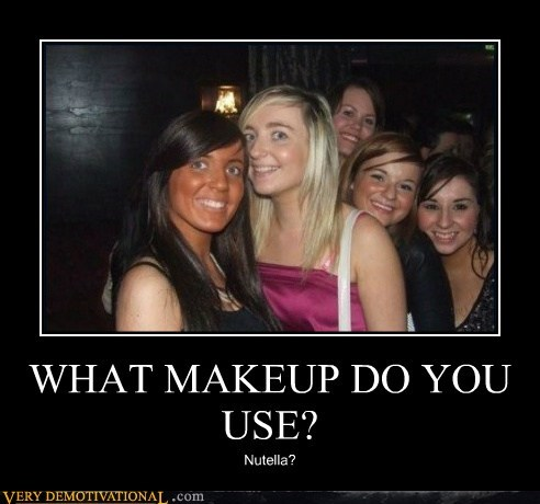 eww hilarious makeup nutella white girls - 5500621056