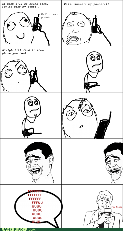 lost phone Rage Comics wtf - 5500772352