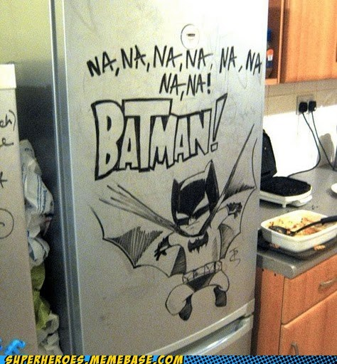 Awesome Art batman drawing fridge marker - 5500840192