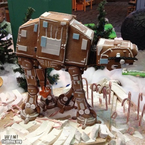 at at,christmas,gingerbread,Hall of Fame,holidays,nerdgasm,star wars