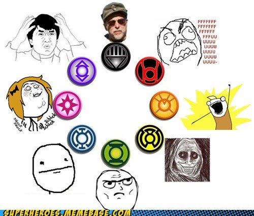 black,corps,Green lantern,Memes,pink,purple,Random Heroics,red,yellow