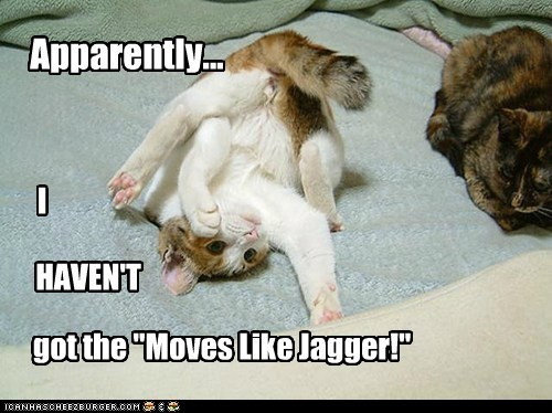 """Apparently... I HAVEN'T got the """"Moves Like Jagger!"""""""