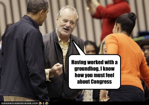 barack obama bill murray Congress groundhog day groundhogs Michelle Obama politics - 5501203456