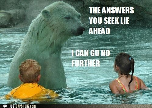 animals,best of the week,children,Hall of Fame,help,i can go no further,kids,polar bear,wise