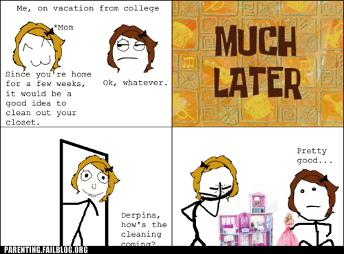 adolescent cleaning closet Hall of Fame Parenting Fail rage comic toys - 5501225216