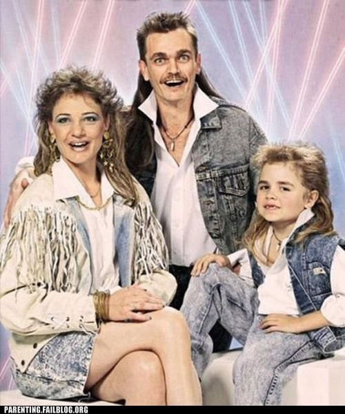 80s Awkward eye bleach family portrait g rated Hall of Fame lasers mullet oh god parenting Parenting Fail