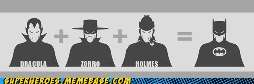 Awesome Art batman dracula equation sherlock holmes zorro - 5501294592