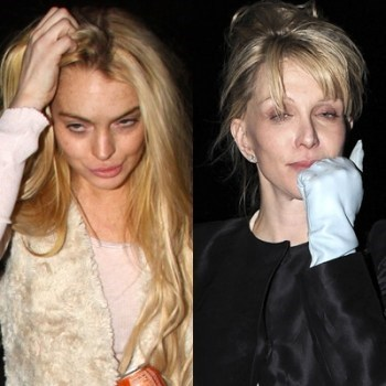 courtney love,drugs,lindsay lohan,sober