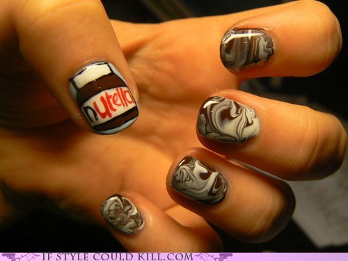 best of the week cool accessories food nail art nails nutella - 5501606400