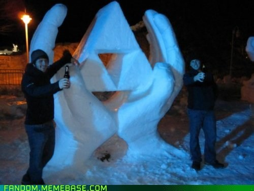 awesome,Fan Art,snow,triforce