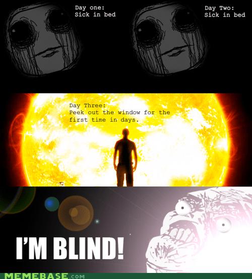 bed blindness light Rage Comics sick - 5502024960