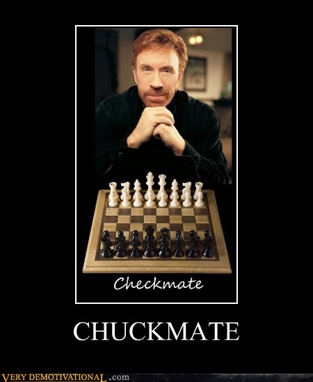 checkmate chess chuck norris hilarious - 5502747648