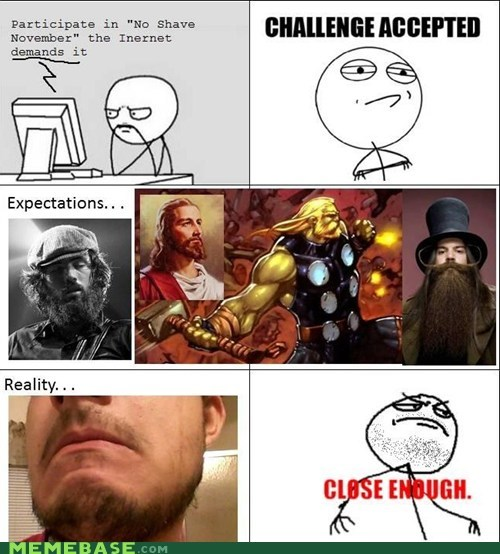 beard expectations good luck next time internet Rage Comics reality shaving - 5502850304