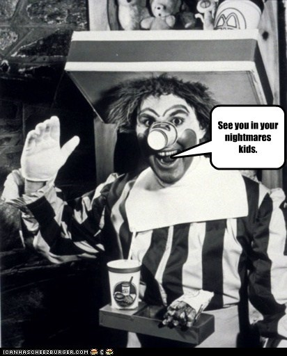 clown,historic lols,nightmare,nightmares,omg wtf,phobia,scary,vintage